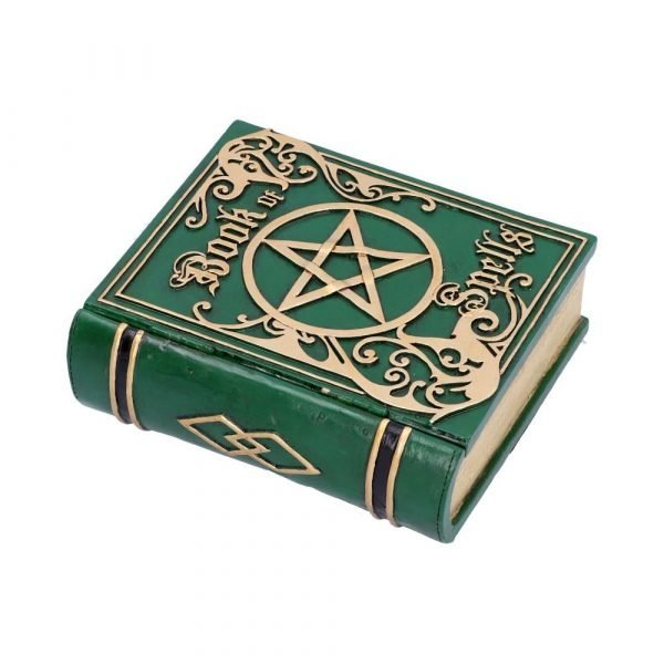 Green Book of Spells Secret Storage Box 15.5cm