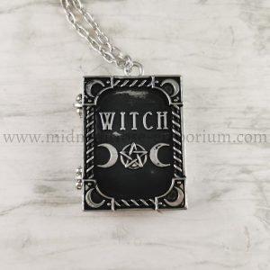 'Witch' Spellbook Locket Necklace