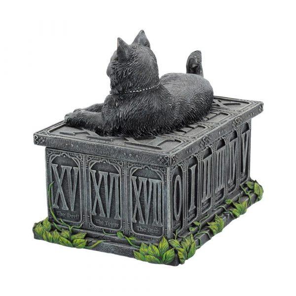 Fortune's Watcher Black Cat Tarot Box 17cm