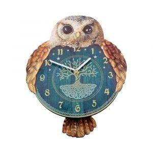 Hootin Tickin' Owl Wall Clock