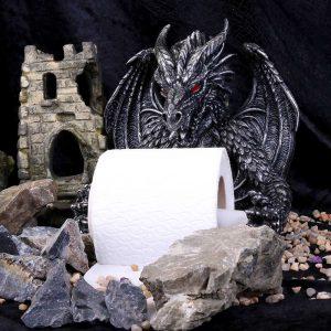 Obsidian Dragon Toilet Roll Holder