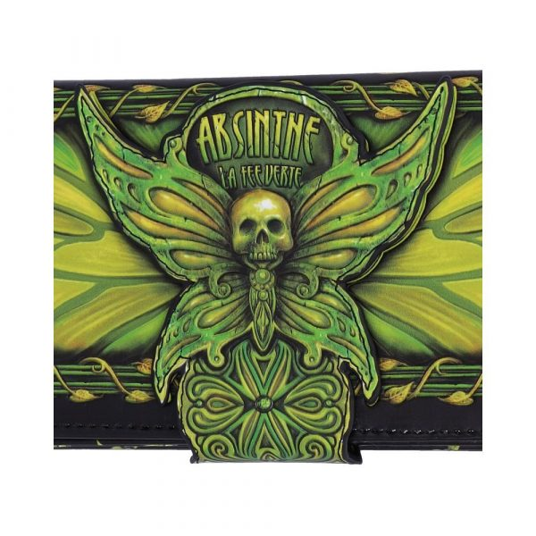 Absinthe - La Fee Verte Embossed Purse 18.5cm