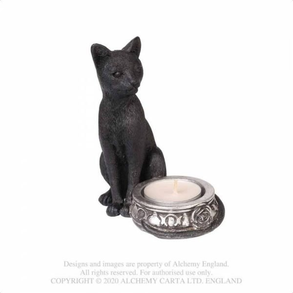 Black Cat Tea Light Holder - Alchemy Gothic