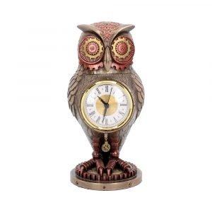 Tick Toot Steampunk Owl Clock