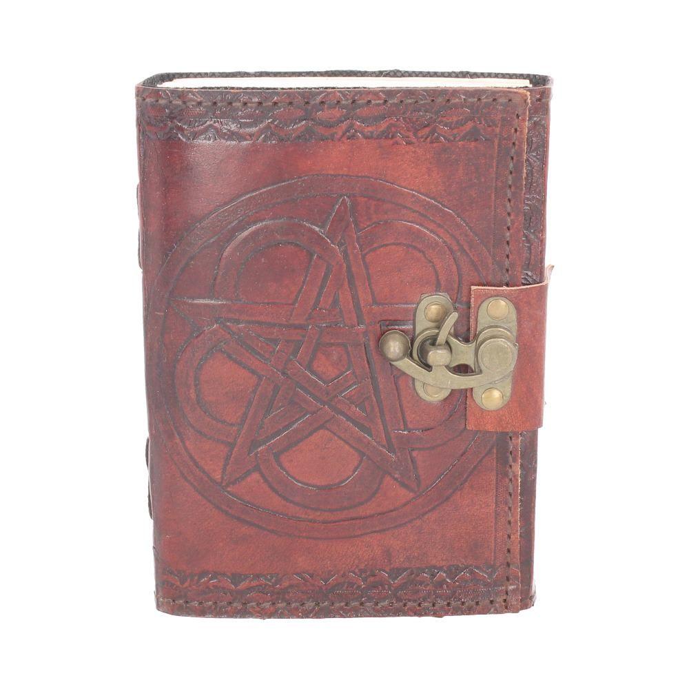 Pentagram Embossed Leather Journal with Lock