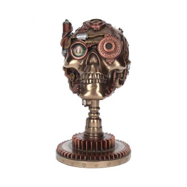 Bionic Ocular Receiver Steampunk Skull Figurine