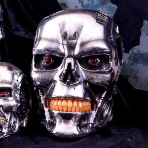 T-800 Terminator Head Wall Plaque 23cm