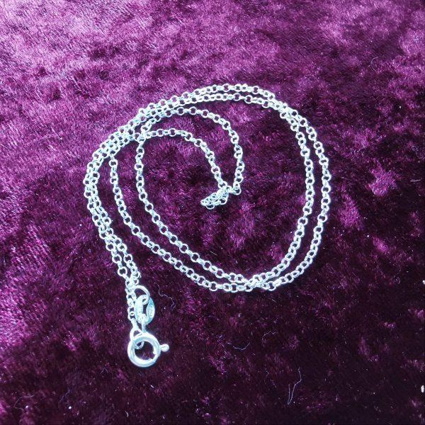 "sterling silver belcher chain 18"""