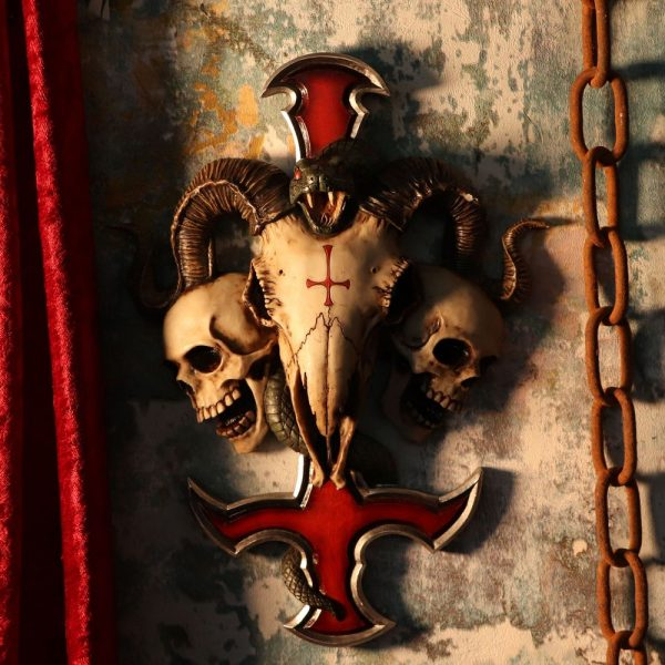devils cross plaque