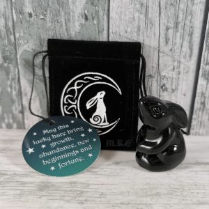 moon gazing hare glass charm