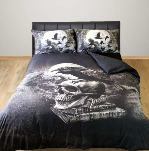 poe's raven bedding set