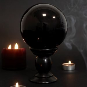black crystal ball large
