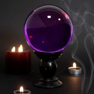 purple crystal ball large