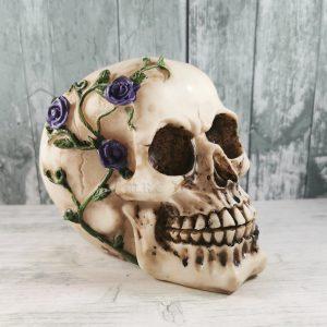purple creeping rose skull