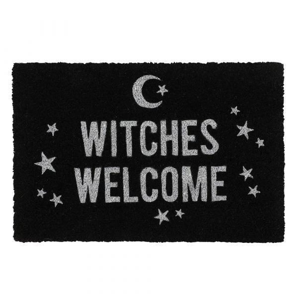 witches welcome door mat