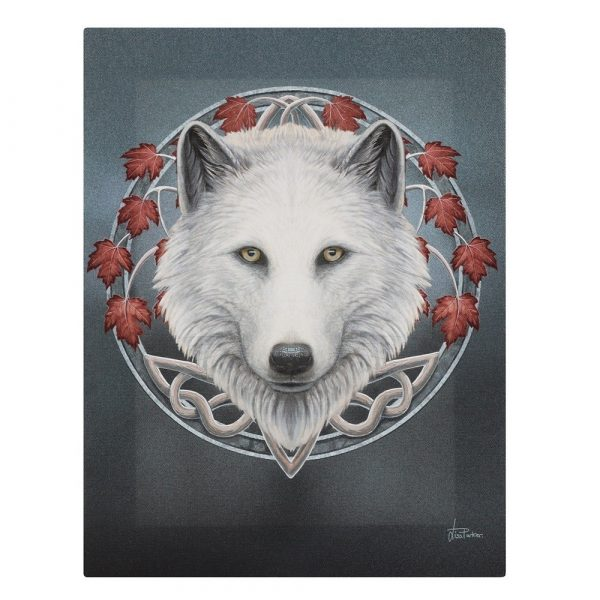 guardian of the fall canvas plaque